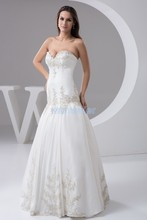 free shipping 2013 new design plus size custom color/size appliques bridal gown good quality princess white wedding dress real