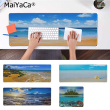 MaiYaCa Cool New Blue Beach Customized MousePads Computer Laptop Anime Mouse Mat Free Shipping Large Pad Keyboards