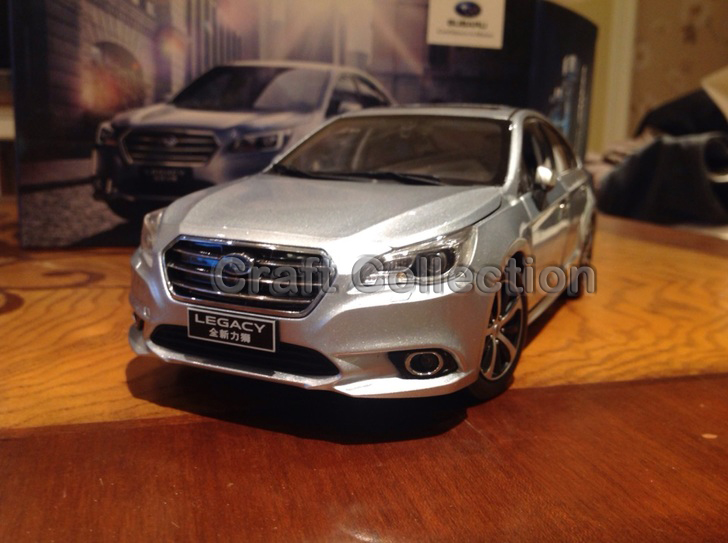 Silver 1/18 Diecast Model Car for All New Subaru Legacy 2016 1 18 otto renault espace ph 1 2000 1 car model reynolds