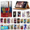 Durable For OPPO A31 Philips Xenium V377 Folio PU Leather Wallet Cover Stand Flip Case For Philips S337 Xenium V787 Middle Size
