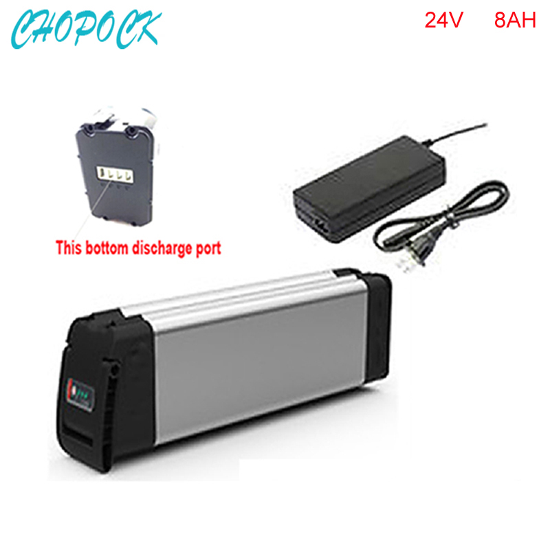 Bottom discharge Free customs taxes lithium battery 24v 8ah ebike battery pack 24v 8ah li-ion battery with BMS and charger liitokala 6s6p 24v 25 2v 12ah battery 18650 lithium ion battery portable backup power pcb 24v 25 2v 1a battery charger