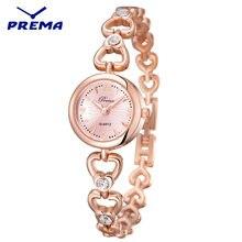 Женские часы браслет prema роскошные брендовые Модные кварцевые