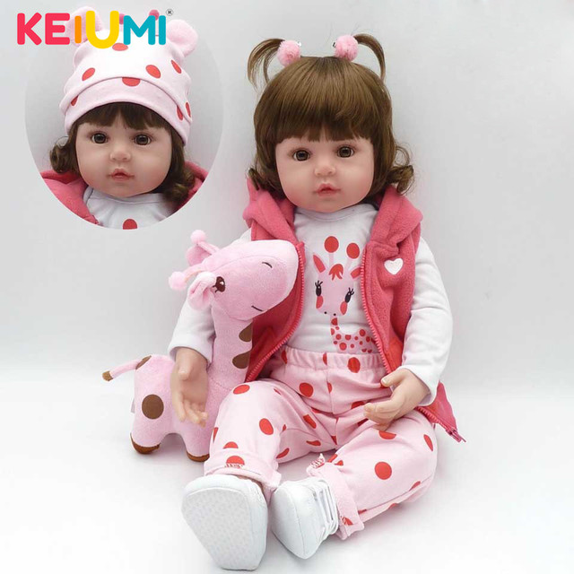 2019 Wholesale Reborn Baby Doll Handmade  Newborn Dolls Fashion Girls Toys For Cute Children Playmates Christmas Gifts