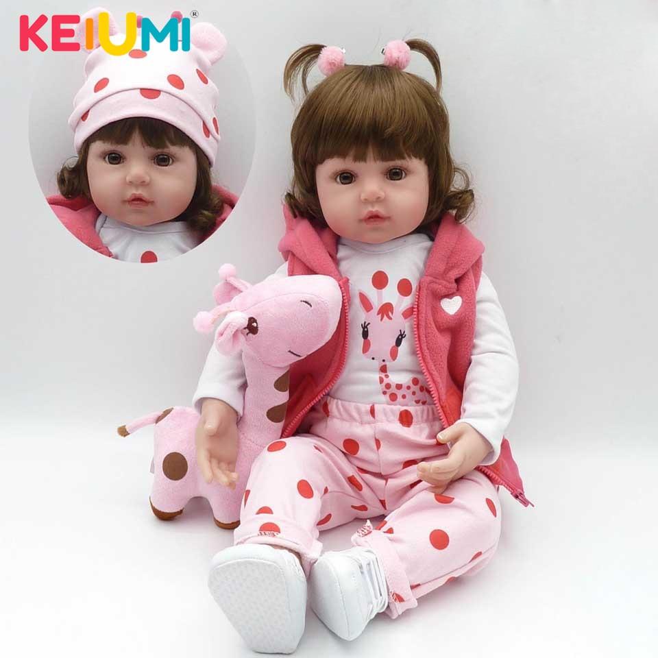 2019 gros Reborn bébé poupée à la main nouveau-né poupées mode filles jouets pour enfants mignons Playmates cadeaux de noël