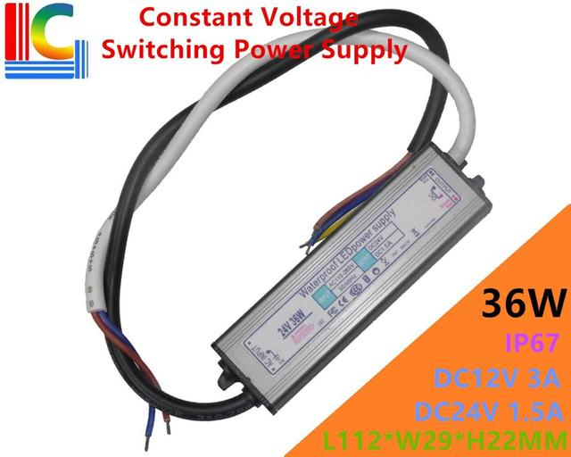 36W Constant Voltage Switching Power Supply 12V 24V IP67 Waterproof ...
