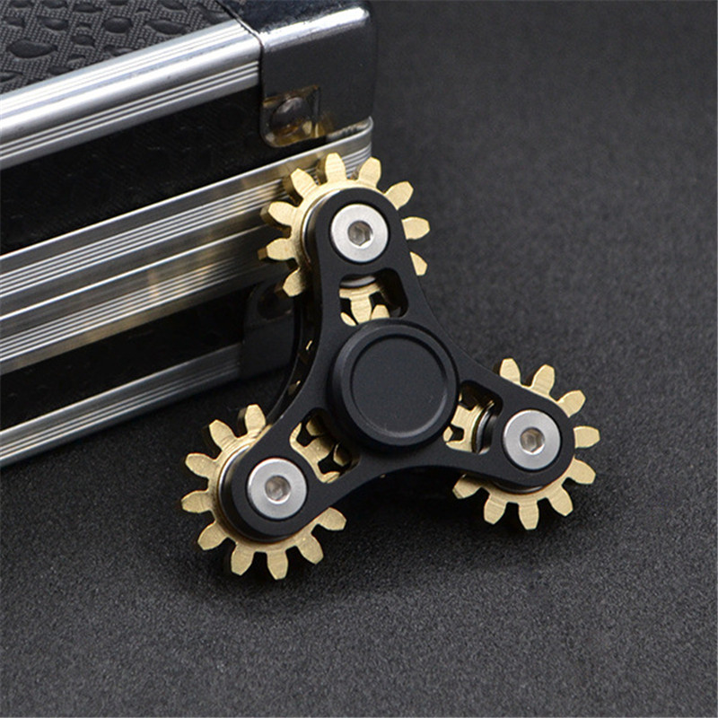 Hot Gears Hand Spinner Anti Stress EDC Fidget Spinner Toys Metal Finger Spinner for Autism and ADHD Spiner Toys fidget hand spinner brass metal edc finger spinner anti stress hand spinner for autism adhd toys gift spinning top