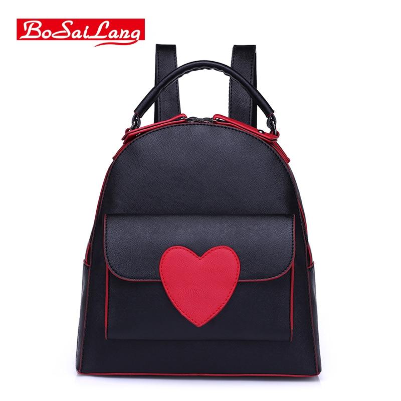 High Quality PU leather Women's Backpacks  Travel Bags Female School Ladies Preppy Girl Backpack