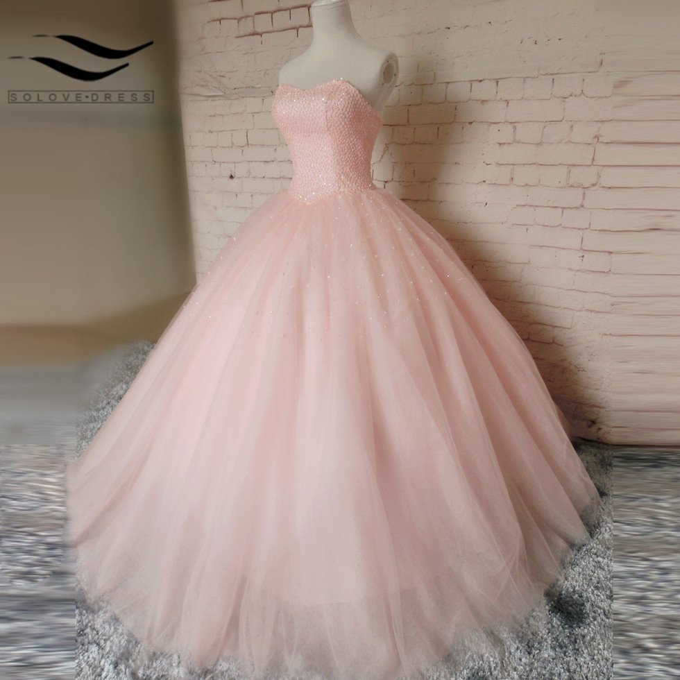 Pink sweetheart ball gown tulle sexy new style lace up for Wedding dress pick up style