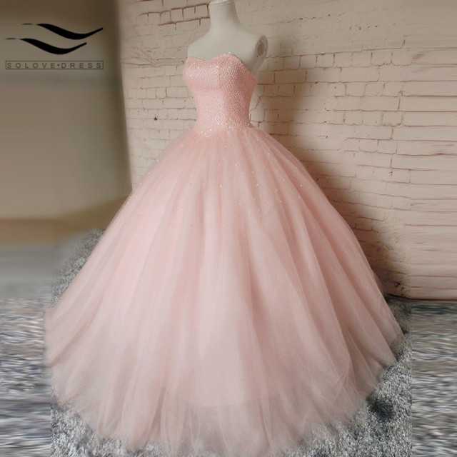 Pink Tulle Wedding Gown: Pink Sweetheart Ball Gown Tulle Sexy New Style Lace Up