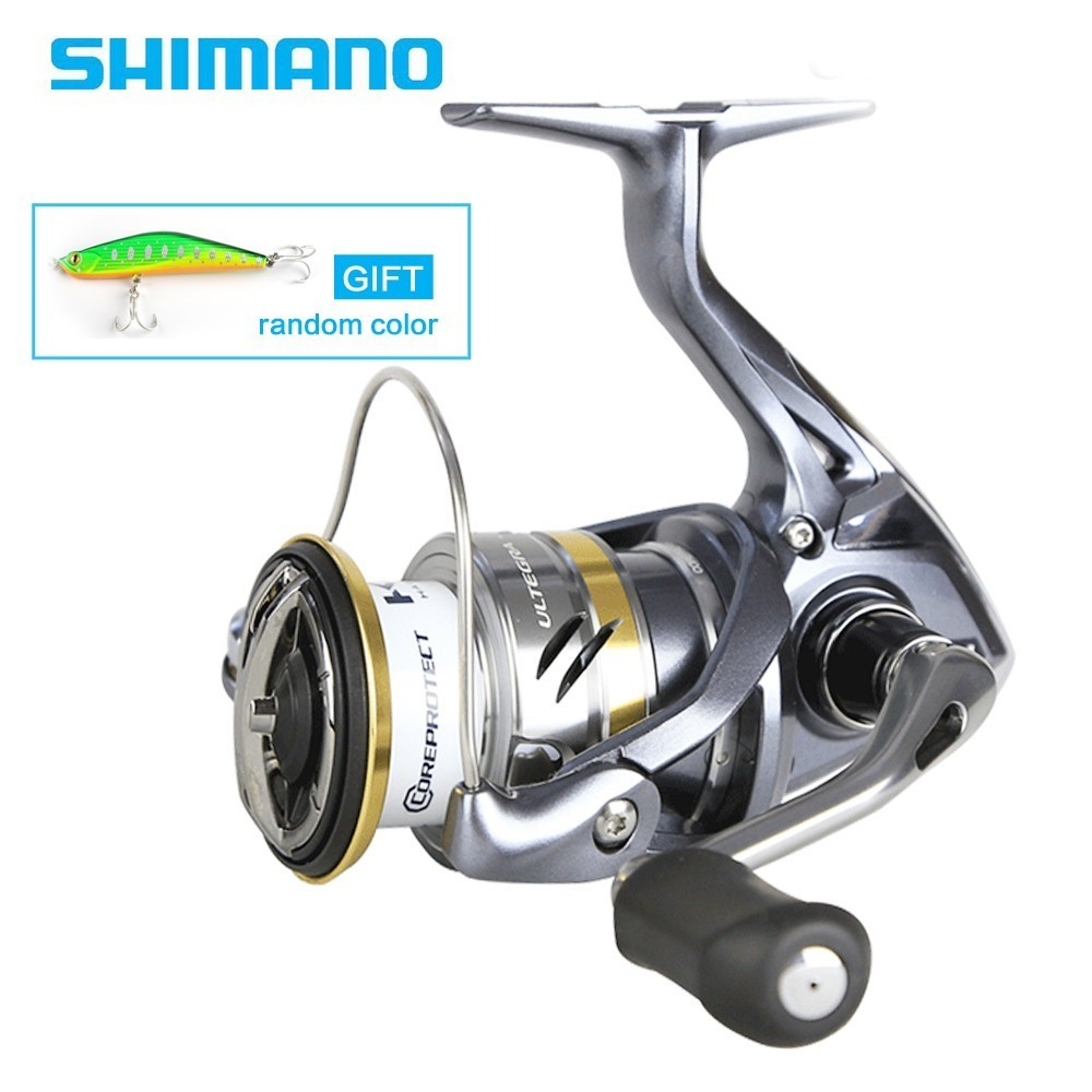 D'origine Shimano ULTEGRA FB Deux Vitesse Ratio 1000HG 2500HG C3000HG C5000XG 5 + 1BB Spinning Reel Fishing X-Le Bateau saltewater Bobine