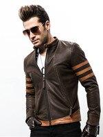 2018 куртка на молнии мужская Высококачественная Wolverin из искусственной кожи мотоциклетная кожаная куртка-бомбер Logans Повседневная Верхняя од...