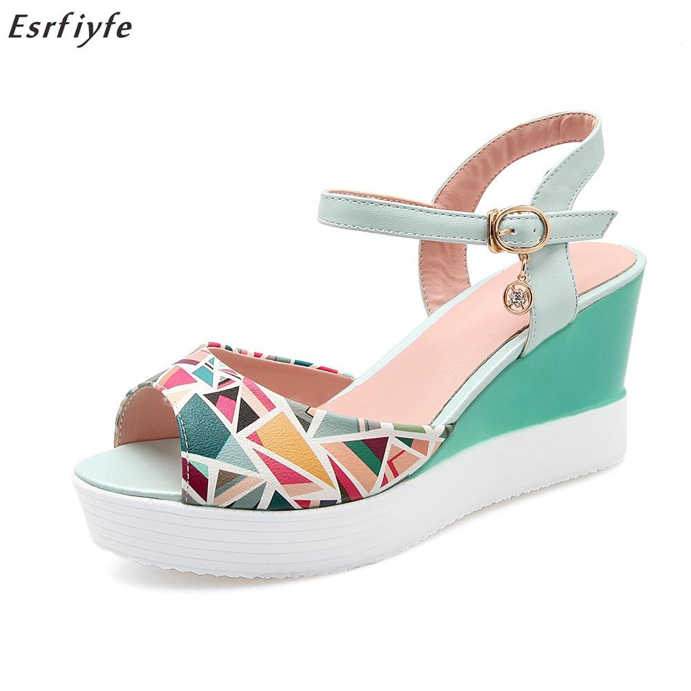 ESRFIYFE New Arrival Dámské boty Dámské sandály Summer Open Toe - Dámské boty