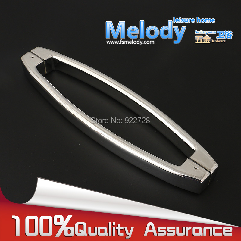 H009-40 Bath room Shower glass door handle 304 Stainless steel Polish Chrome Frame-less C-C 400mm chrome plated modern handle c c 192mm l 218mm h 23mm drawers cabinets