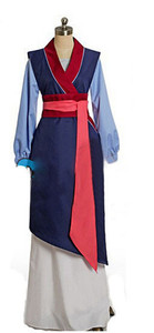 Image 2 - Hua mulan cosplay dress mulan princess dress high quality mulan princess costume for adult women blue mulan cosplay