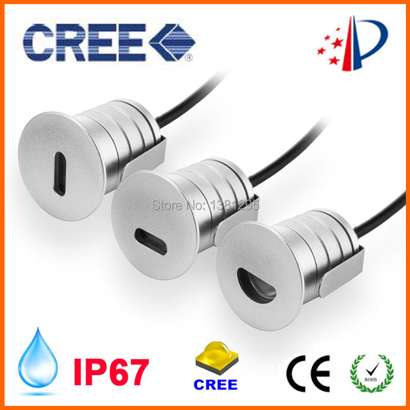 Step Light LED Recessed Wall Lamp Stair Lighting 1W 12V 24V Dimmable CREE LED Mini Spot