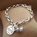 Silver Vintage gourd Bracelet Sen Department of atmospheric fashion silver bracelet neutral personality female lovers