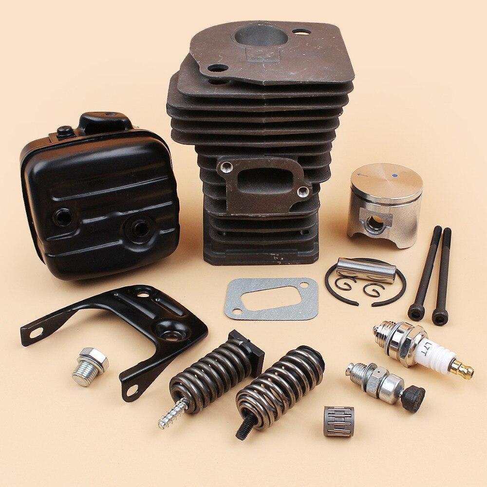 Cylinder Head Piston Muffler Bracket Bolt Shock Spring Buffer Kit Fit Husqvarna 340 345  42mm  Chainsaw Engine Motor Parts
