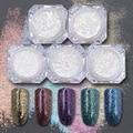 Pack de 5 Cajas de Copos de Brillo Cromo Polvos Brillo Magnífico Manicure Nail Art Glitter Powder 5 Colores #835212