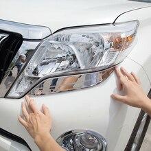 For Toyota Land Cruiser Prado FJ150 FJ 150 2014-2017 ABS Chrome Front Headlight lamp strip cover Trim accessories 2pcs 11 pieces chrome package handle lamp fuel tank cap cover 1998 2007 for toyota land cruiser 100 lexus lx470 accessories