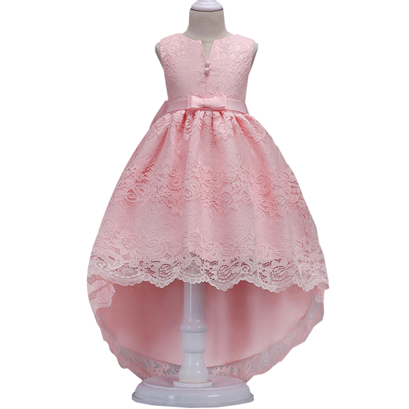 2019   girl     flower   princess   dress   kids lace trailing   dress   children show   dress   first communion   dresses   3-14 year baby costume