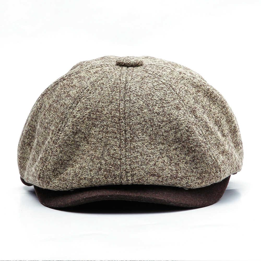 bde3afe4e3b Detail Feedback Questions about Winter Men s Felt Beret Outdoor Cap ...