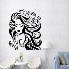 Modern Hair Salon Wall Stickers Fashion Sticker Bedroom Nursery Decoration Accessories
