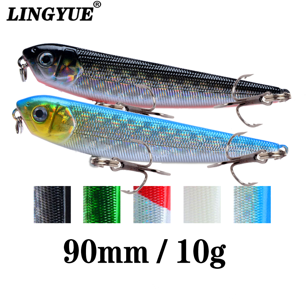 LINGYUE 1PCS Hard Pencil Fishing Lure Topwater Floating Isca Artificial Bait 90mm 10g Crankbait Wobbler Pesca For Pike Bass
