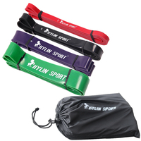Set Of 4 Pull Up Bands Natural Latex 41 Strength Resistance Bands Loop Fitness Crossfit Power
