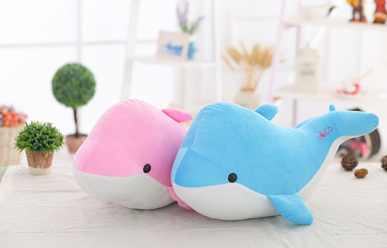 2015 New 28cm High-quality goods dolphins pillow doll plush toys dolphins doll present lovers toys for childrens Free shipping (8)