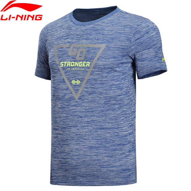 Li-Ning Men Training T-Shirts For Gym AT DRY 100% Polyester Regular Fit Breathable LiNing Sports Tee Tops ATSN087 MTS2788