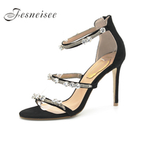 Fesneisee 2018 S Summer Women Sandals Open Toe Flip Flops Thin Heels Women Shoes Korean Style