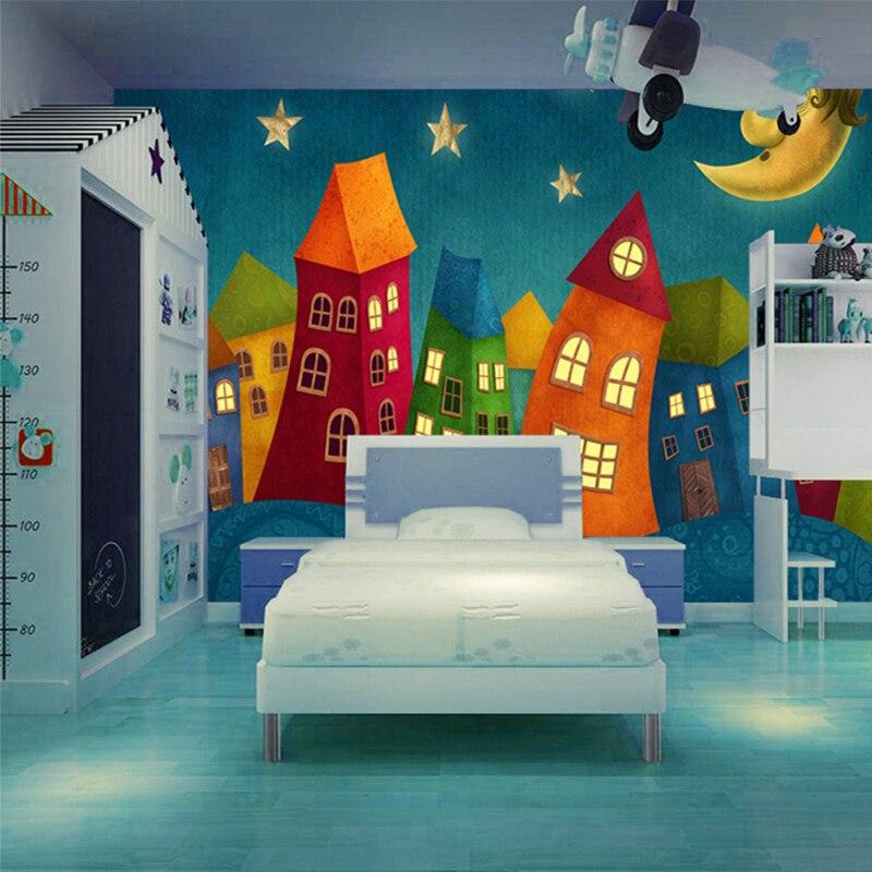 Us 8 88 52 Off Custom 3d Mural Wallpaper Cartoon Castle Children S Room Large Wall Painting Bedroom Non Woven Wallpaper Murales De Pared 3d In