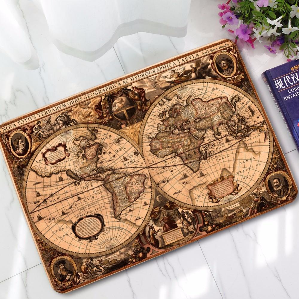 MDCT Vintage World Navigation Map Pattern Door Mat Rubber Back Living Room Kitchen  Bath Parlor Floor Mats Rugs Welcome Mats In Mat From Home U0026 Garden On ...