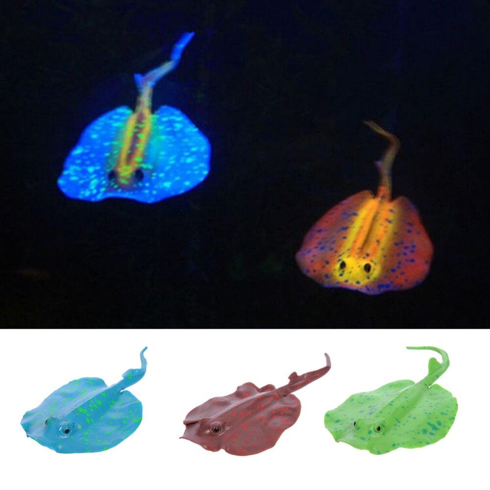 hot sale cahaya 3 warna di malam aquarium dekorasi silikon cangkir
