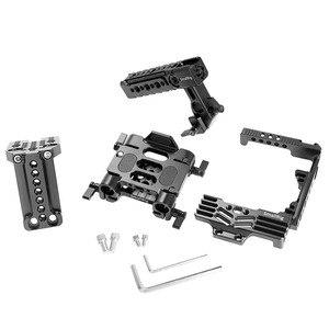 Image 4 - SmallRig GH5 Halb Käfig Kit für Panasonic Lumix GH5 mit Batterie Griff/Top Handgriff/Dual Rod Clamp Grundplatte system 2067