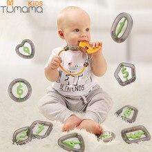 Купить с кэшбэком 4-10PCS Baby Toys Hand Jingle Shaking Bell Lovely Hand Shake Bell Ring Baby Rattles Toys Newborn 0-12 Months Teether Toys