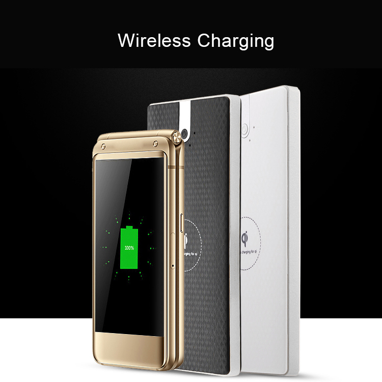 GOLDFOX Qi Wireless Charger Phone Power Bank 10000mAh External Battery Charge Wireless Charging For iPhone 8 X Samsung Note 8