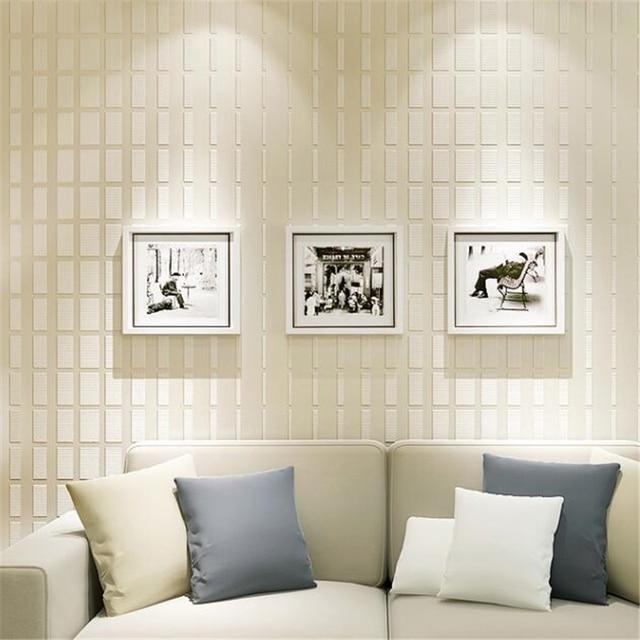 Beibehang Modern Minimalist 3D Relief Wallpaper Vertical Stripes Bedroom  Non Woven Wallpaper Living Room Background