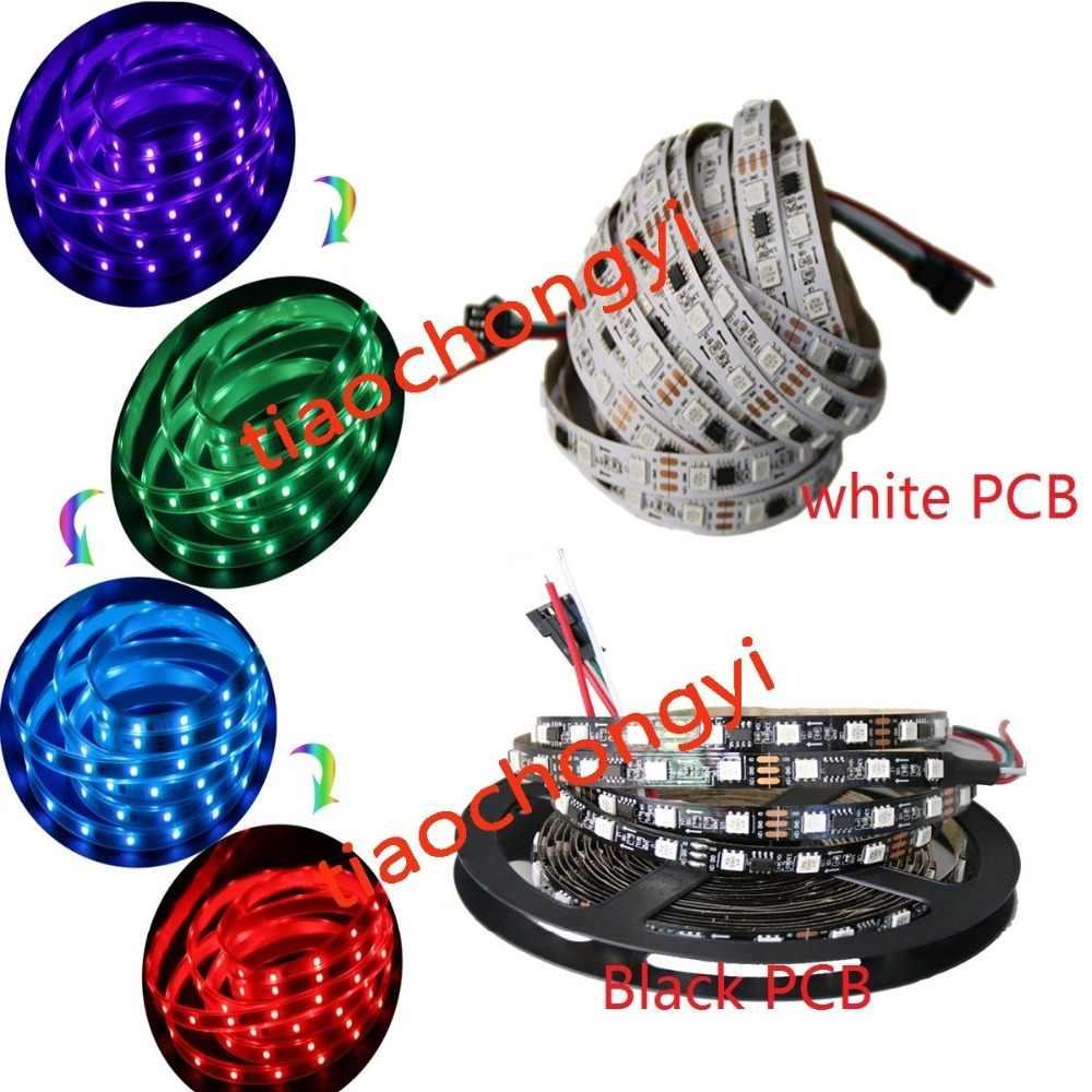 لون الحلم ws2811 5050 كاملة اللون rgb led قطاع 5 متر 150 300 450 المصابيح dc12v