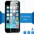 Para apple iphone 4 4s seguridad protector0.26mm 2.5 9 h protector de pantalla de cristal templado película de vidrio en i4 a1431 a1387 a1349