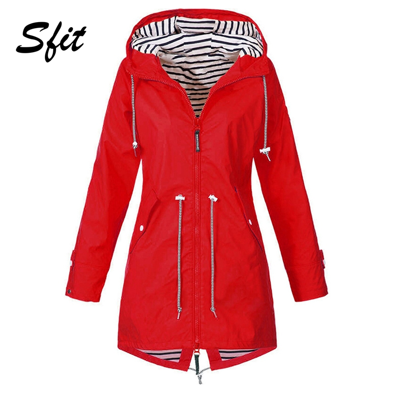 Sfit Hiking Jacket Coat Transition Rain Outdoor Long Winter Camping Women's Autumn Windproof