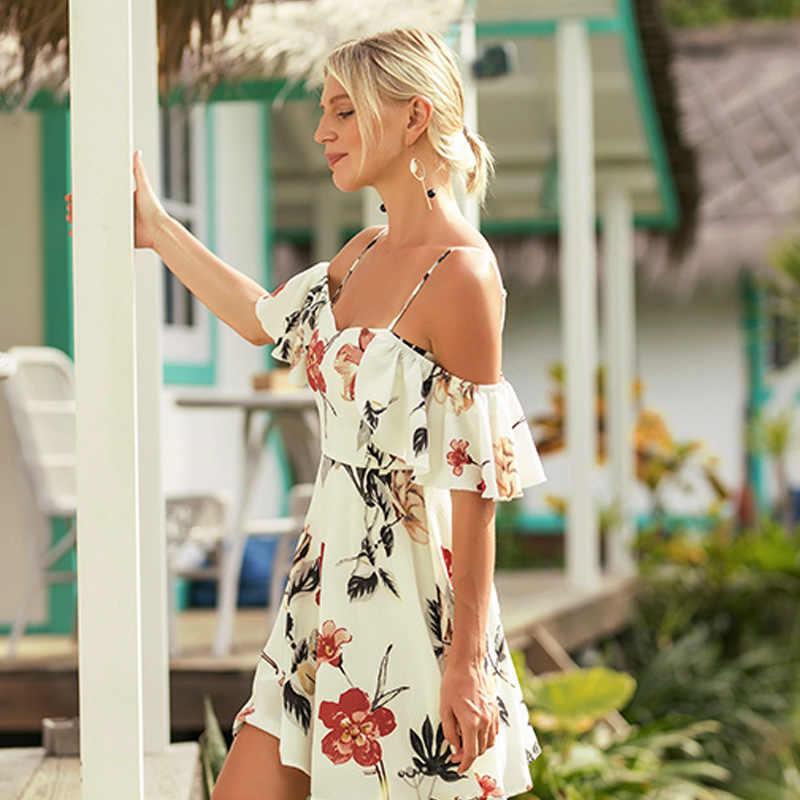 את כתף נשים חוף שמלת קלע וחוף גבירותיי ביקיני לחפות נשים בגד ים החוף ללבוש חצאית 2018 טוניקת