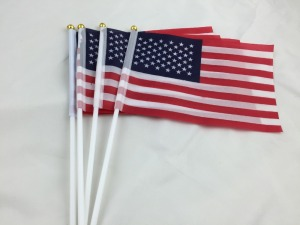 5pcs 14*21CM American Flag Hand Wave Flags US/USA National Flags Celebration Parade Waving FlagSupply Decoration Drop Shipping