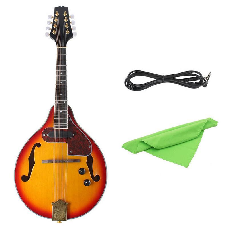 Un Type hêtre boîte électrique acoustique-électrique mandoline Piano 8 cordes guitare musicale à cordes Instruments amoureux cadeau