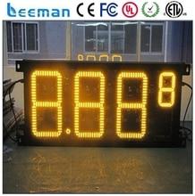 Leeman 10 дюймов 8.8.8.8 одного лица из светодиодов газа знак открытый беспроводной IP65 8 » 12 » 16 » 18 » 20 » 24 » 30 » 48 » из светодиодов цена на газ