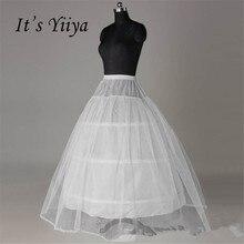 Это yiiya Белый 3 Обручи бальное платье юбка Свадебные аксессуары невесты кринолин нижняя въелось de Novia Вуаль де mariée qc012