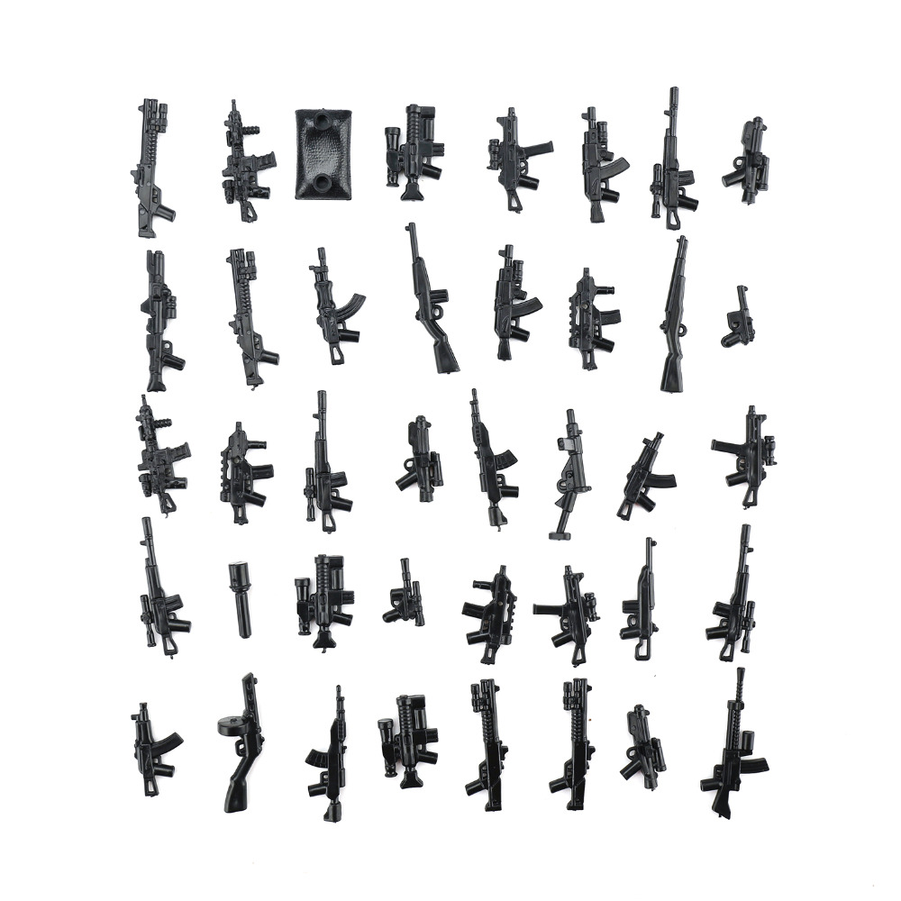 Yamala-Military-Swat-Police-Gun-Weapons-Pack-Army-soldiers-building-blocks-MOC-Arms-City-Police-Legoingly-Military-Series-2