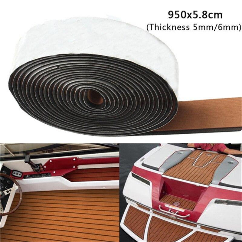 950x5.8cm Brown/Balck EVA Foam 5/6mm Boat Flooring Teak Decking Sheet Pad ATV Parts & Accessories Sheet Pad