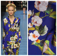 140cm digital printed silk fabric 18 momme 100 silk fabric soft dress shirt silk crepe satin fabric wholesale cloth