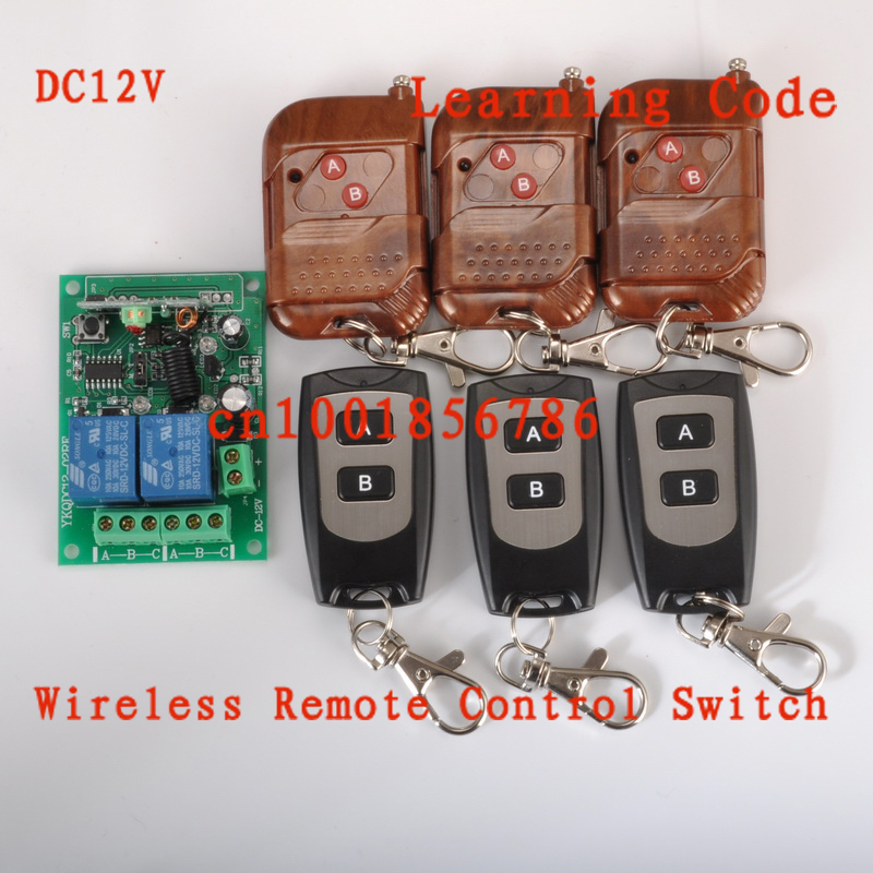 315/433MHZ 12V 2CH 6 Transmitter & 1 Receiver Wireless Remote Control light switch Momentary Toggle Latched with Relay indicator new rf wireless switch wireless remote control system 2transmitter 12receiver 1ch toggle momentary latched learning code 315 433